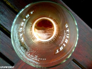 Answers in a pint glass 300x225 At The Bottom of a Pint Glass