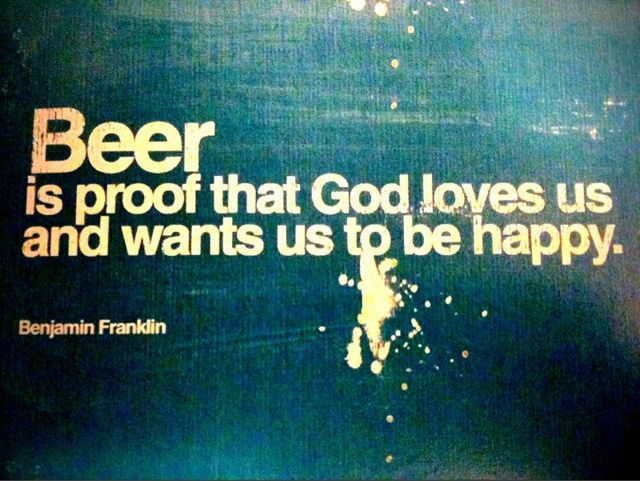 Beer as evidence of God