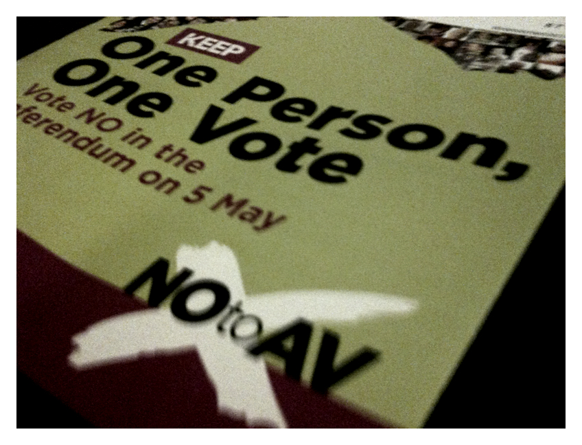 April20th One Person One Vote? No to AV?